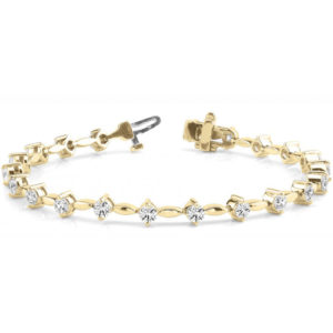 Diamantarmband 1.02 Karat Brillanten in 585/14K Gelbgold
